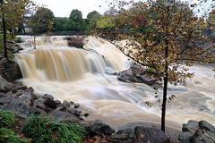 Reedy River High (101) (V-rider) Tags: bridge sc water rain river flow rocks downtown trail waterfalls ralph current greenville muddy reedy rhm swamprabbit waterfll canon6d vrider97 rhmfoto mayerphotoscom rhmphotgraphytllc
