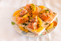 Appetizer for any holiday. (Giuseppe Pipia) Tags: light food orange canon lights natural eating salmon eat foodporn appetizer oranges appetizers canondslr cibo arancione smoked antipasti mangiare arancia antipasto foodphotography salmone 70d canonphotography affumicato canonphoto canonofficial