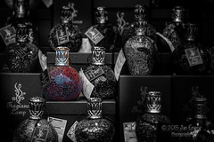 Perfumed (Jamarem) Tags: christmas red bw colour birmingham bottles market pop german fragrance 2015 perfumed canoneos70d 115picturesin2015