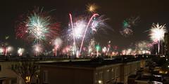 Oud & Nieuw (zsnajorrah) Tags: longexposure houses sky urban motion haarlem netherlands night feast fireworks newyear explore newyearseve terracedhouses haarlemnoord 7dmarkii ef1635mmf4l
