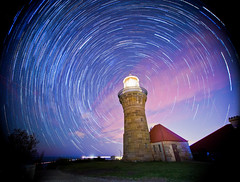 Barrenjoey Lighthouse (limomo) Tags: lighthouse sydney australia nightsky barrenjoey startrail