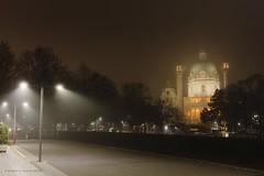 """Soledad (ralcains) Tags: vienna wien fog austria österreich viena niebla karlsplatz """"flickrtravelaward"""""""