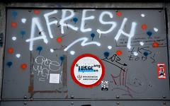 graffiti (wojofoto) Tags: graffiti wojofoto wolfgangjosten nederland netherland holland afresh amsterdam tags tag omce wojo sticker