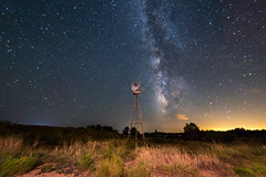 ([ raymond ]) Tags: newmexico img3948 landscape windmill milkyway stars night longexposure galaxy universe desert awesome
