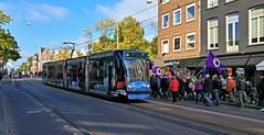 Zaterdag Demo Dag 3 (Peter ( phonepics only) Eijkman) Tags: amsterdam city combino advertise gvb tram transport trams tramtracks rail rails strassenbahn streetcars detour omleiding nederland netherlands nederlandse noordholland holland