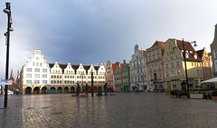 Rostock neuer markt We got here very late in an unbelievable raining day and were a little disappointing.   Suddenly Sun came out of nowhere, it was spectacular (yuanxizhou) Tags: scenery view tourist attraction historic culture medieval architecture awesome germany travelgermany travelphotography travel