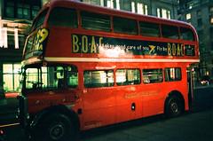 Vintage AEC Regent III RT double-decker bus (oh it's amanda) Tags: london londonengland uk pentaxespiomini pentaxuc1 fujisensia200 xpro crossprocessed expiredfilm