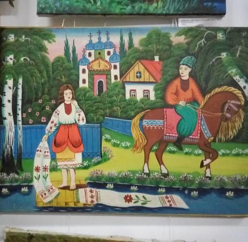 Выставка в галерее Март, коллекция Андрея Сазонова. #живопись #наив  #рыбинск #painting #exhibition