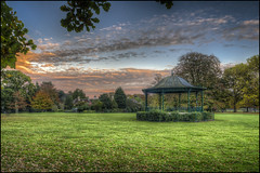 Abington Park Autumn 2016 -Bandstand 2 (Darwinsgift) Tags: abington park northampton northamptonshire autumn bandstand abbey manor house museum hdr photomatix pce nikkor 24mm f35 d ed nikon d810 sundown sunset ngc