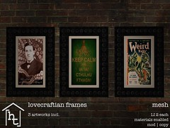 [ht:home] lovecraftian frames (Corvus Szpiegel) Tags: hate this ht home genre lovecraft tentacle suction cup picture frame black wood howard phillips cthulhu weird tales keep calm fthagn photo magazine vintage horror halloween macabre tale story