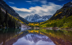 Fall at Maroon Bells () Tags: wallpapers 2013 attractions colorefexpro fall snowmass aspen aspens canon co colorado colors fallcolors firstsnow lake maroonbells maroonpeak mountains niksoftware outdoor peaks photography pictures roaringfork september snow tobyharriman valley yelloe