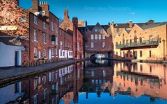 Gas Street Basin Birmingham (simonvaux1) Tags: birmingham gas street water barges long boats old buildings red brick character blue skies reflection tunnel sunny outdoors midlands uk england simon vaux photography