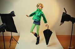 A-Z Challenge: R - rain gear (saratiz) Tags: rain umbrella photography boots raincoat poppyparker blond
