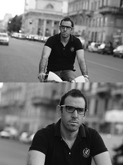 [La Mia Citt][Pedala] con il BikeMi (Urca) Tags: milano italia 2016 bicicletta pedalare ciclista ritrattostradale portrait dittico nikondigitale mir bike bicycle biancoenero blackandwhite bn bw 895106