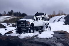 Ford F-350 6 door 6wd 33 (My Scale Passion) Tags: ford f350 meng monogram losi micro mini crawler scale rc modeling custom snow snowrun crawling climbing expedition northpole southpole truck double dual dually duallie 6door 10wd 10x10 125 124 miniz overland landcruiser build