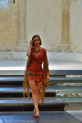 Fashion-Show at the priory of Salaise-sur-Sanne. (Pascal Rey Photographies) Tags: women femmes portraits mode fashion digikam digikamusers linux ubuntu opensource freesoftware lady fashionshow défilédemode robe dress roberouge reddress autofocus