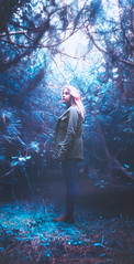 Winter (Andr Varela) Tags: art artistic alone andr away artist andre animal canon conceptual cold color clouds child portrait photography person project pain blue forest