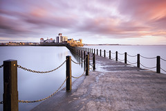Knightstone (Scott Howse) Tags: uk england somerset coast westonsupermare weston knightstone island causeway sunset dusk water sky clouds longexposure nikon d800e nikkor 1635mmf4 leefilters 06gnds nd110