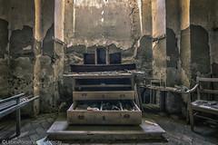 """Last christmas i gave you my church"" (RomarioPhotography) Tags: urbex church abandoned decay christmas christmastree blue urban nikond7200 tokina tokina1116 wideangle"