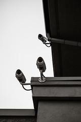 Three Degrees Of Surveillance (Jeremy Brooks) Tags: bw blackwhite blackandwhite california contracostacounty elcerrito securitytheater surveillance usa