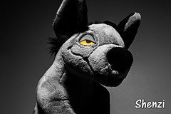035-Shenzi for Chanel (Univaded Fox) Tags: shenzi hyena the lion king plush disney store photography experiment dramatic lighting filters photoshop univaded