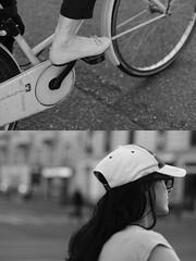 [La Mia Città][Pedala] (Urca) Tags: milano italia 2016 bicicletta pedalare ciclista ritrattostradale portrait dittico bike bicycle nikondigitale mirò biancoenero blackandwhite bn bw 90758