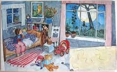 Der Mond im Kinderzimmer (Eva-Maria Ott-Heidmann) (Leonisha) Tags: puzzle jigsawpuzzle wooden woodenpuzzle holzpuzzle