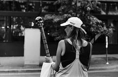 PDX oddities (RaminN) Tags: people bw film oregon portland skeleton sticks streetphotography pdx analogphotography zenit122