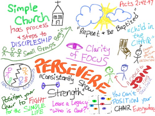 Sermon Sketchnote: Pursuing the Simple L by Wesley Fryer, on Flickr