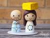 New York Mets and Cheesehead bride (genefyplayground) Tags: wedding sports baseball cheesehead newyorkmets weddingcaketopper genefyplayground