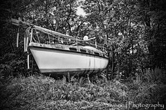 (Silverio Photography) Tags: blackandwhite nature photoshop canon boat woods sigma elements suburb 1770 hdr topaz obscure adjust stoughton massachuetts
