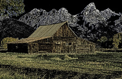 Moulton Barn-Canon-32-Edit-pencil (Chuck Roderique) Tags: jacksonhole wy moultonbarn