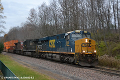 CSXT 868 GE ES44AH (36T) (Trucks, Buses, & Trains by granitefan713) Tags: train ns canadianpacific cp heavy ge generalelectric csx freighttrain norfolksouthern manifest csxt gevo lashup mixedfreight es44 evolutionseries gees44ah