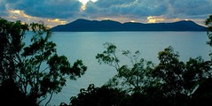 Hinchinbrook Island Dawn  Luminous Sea (armct) Tags: island passage hinchinbrook dawn sunrise cloud golden leaden milky cyan silhouette luminous d70s nikon