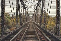 Autumn Explorations (Joey Wharton) Tags: bridge autumn fall train outdoors virginia tracks rail symmetry richmond va rva