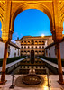 Alhambra Gold (Mister Electron) Tags: gardens architecture reflections evening spain arch availablelight arches palace plaster andalucia architectural espana alhambra moorish granada moors pillars carvings nasridpalace courtofthemyrtles nikond800