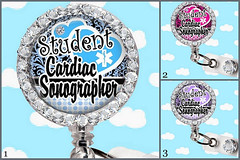 Student Cardiac Sonographer 1 Retractable ID Badge Reel - Id Badge Reel, Steth Id Tag Or Lanyard (badgeheaven) Tags: sonogram nurse rn lanyard sonographer