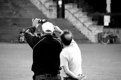 Photo is a matter of precision (2) (Giangaleazzo) Tags: friends two tourism monochrome canon germany eos photo photographer erfurt duty picture machine help taking biancoenero germania task turingia aiuto 40d impegno giangaleazzo