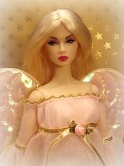 Christmas Angel (Deejay Bafaroy) Tags: christmas xmas pink portrait fashion angel weihnachten toys golden doll advent great barbie rosa portrt blond blonde engel fr royalty weihnacht lilith ros puppe integrity pretender weihnachtsengel nuface