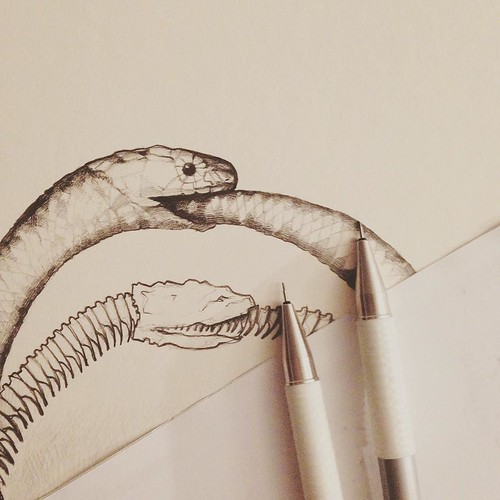 Ouroboros In The Making Sketch Drawing Ouroboros Ouroborosart