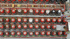 Thermionic valve array, WWII Colossus Mark 2 computer operating replica 2007 - The National Museum of Computing, Bletchley Park, England.. (edk7) Tags: uk england museum vintage computer technology miltonkeynes military buckinghamshire wwii machine engineering historic system worldwarii electronics british worldwar2 bletchleypark secondworldwar worldwartwo blockh 2013 cryptanalysis nikond300 tnmoc thenationalmuseumofcomputing edk7 colossusmark2operatingreplica2007 vacuumtubearray thermionicvalvearray