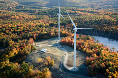 The Ryan Company (quanta.services) Tags: autumn usa weather electric project season site energy technology power unitedstates wind farm connecticut towers ct places aerial structure equipment helicopter generators infrastructure hawt ge source turbine blades generalelectric colebrook utilityscale aerofoilpowered bneenergy colebrooksouth theryancompany