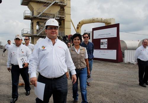 El gobernador Javier Duarte de Ochoa realizó Recorrido de Supervisión por el Libramiento de Xalapa.