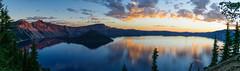 Crater Lake - first light (CloudRipR) Tags: 250v10f cloudsstormssunsetssunrises craterlakenationalpark reflections oregon nationalpark landscape d300 sunrise craterlake 500v20f 500l2 pinnaclephotography