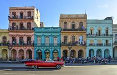 Havana Colors, Cuba. (pedro lastra) Tags: nikon df nikondf lahabana cuba architecture classic convertible red