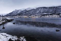 View of Reinen from Lanesbukta, Tromsø (craigmdennis) Tags: travel sea mountains norway landscape coast norwegian fjords tromsø