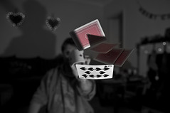 The Magician (abnormally average) Tags: red playing catchycolors fun cards cool heart bokeh coolest poot playingcards magician selectivecolour justmessin abnormallyaverage pootar