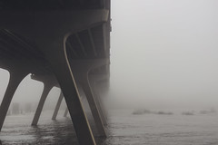 Bridge to Nowhere (Joey Wharton) Tags: bridge mist water fog river outdoors virginia foggy richmond va rva