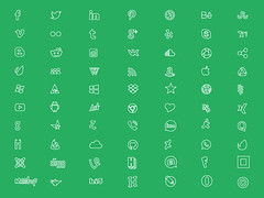 Social Media Line Icons Free Download (msfreebranders) Tags: icons free social branders