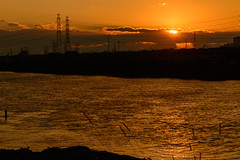 4Yodo River at sunset (anglo10) Tags: sunset japan river